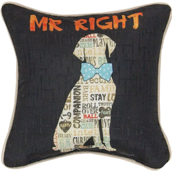 Mr. Right Dye Throw Pillow by Manual Woodworkers & Weavers