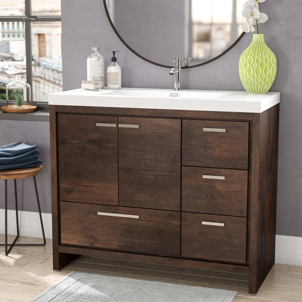 Almendarez Free Standing Modern 41 Rectangular Single Bathroom Vanity Set by Langley Street
