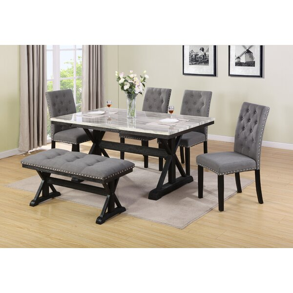 Modern Lona 6 Piece Dining Set By Darby Home Co Coupon