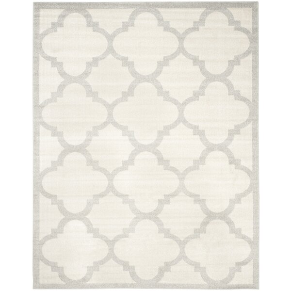 Maritza Beige & Light Gray Indoor/Outdoor Area Rug by Willa Arlo Interiors