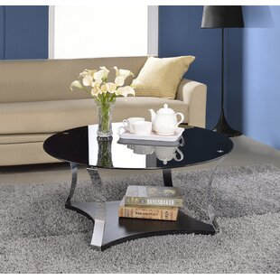 Cassius Glass Coffee Table by Orren Ellis