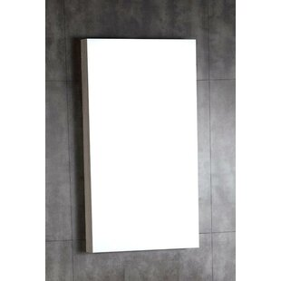 Best Reviews Wood Framed Bathroom Wall Mirror By Bellaterra Home