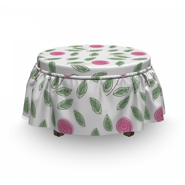 Blossoms Ottoman Slipcover (Set Of 2) By East Urban Home