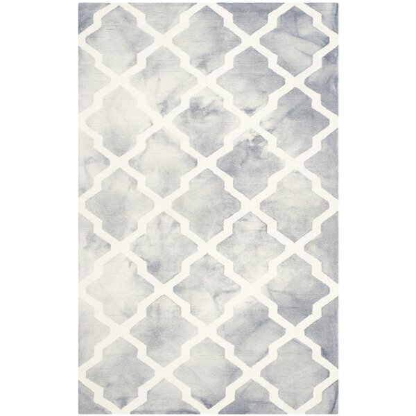Ashanti Hand-Tufted Grey/Ivory Area Rug by Willa Arlo Interiors