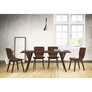Slye Dark Walnut Bent Wood 5-Piece Dining Set By Brayden Studio
