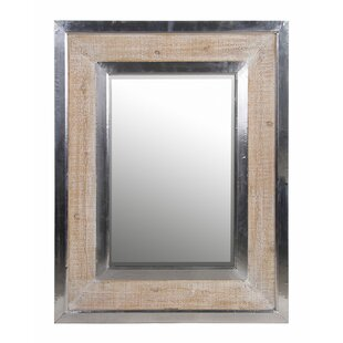 17 Stories Chrome/Brown Frame Accent Mirror