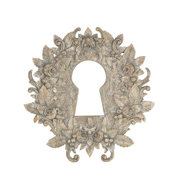Keyhole Carved Accent Mirror by Resource Decor