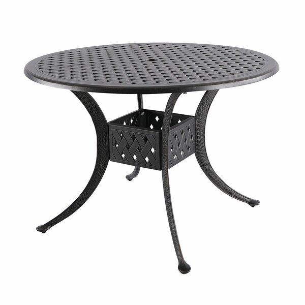 Cobblestone Metal Dining Table By Fleur De Lis Living