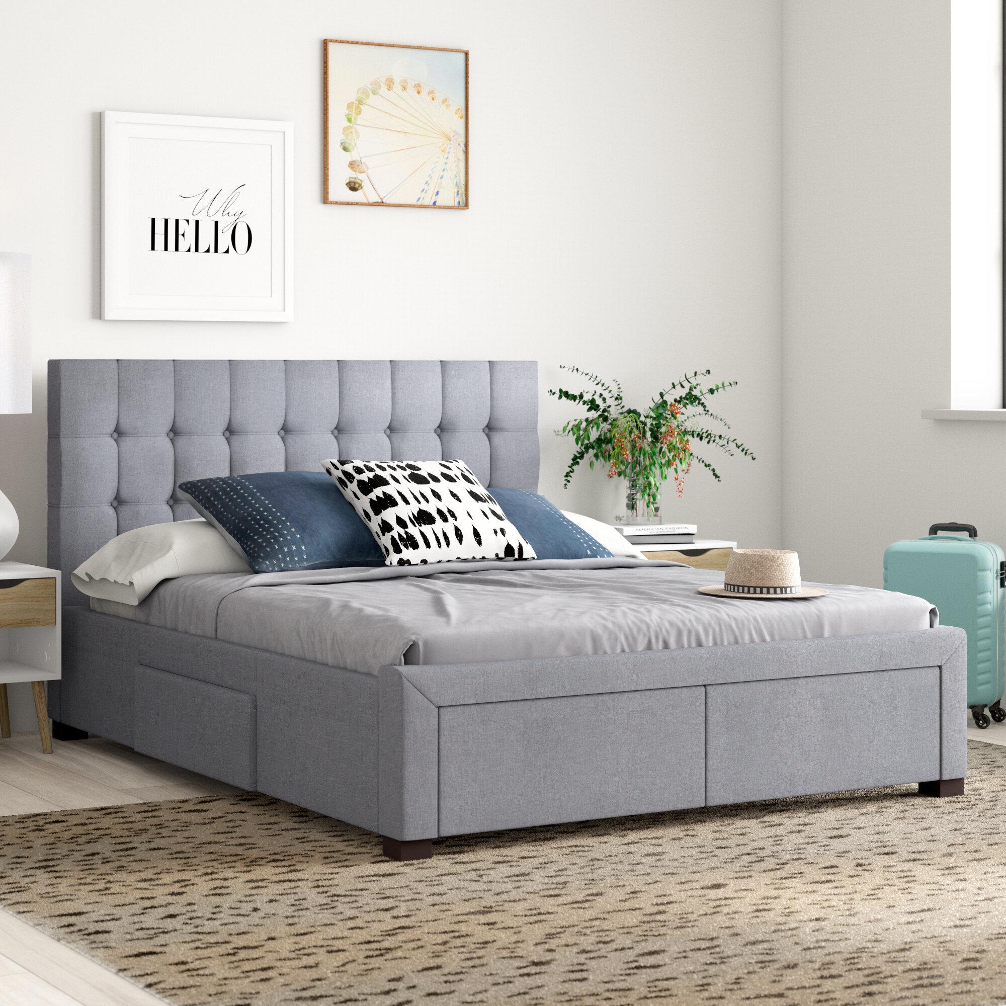 Lawson Upholstered Storage Platform Bed Reviews Allmodern