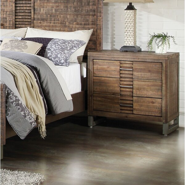 Veronica 3 Drawer Nightstand by Foundry Select