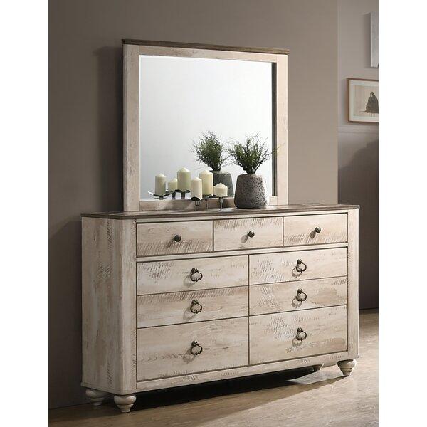 Tavistock 9 Drawer Dresser with Mirror by Three Posts