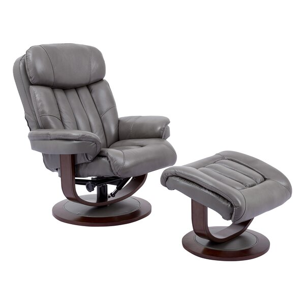 Bloomfield Manual Swivel Recliner with Ottoman Brayden Studio W001257867