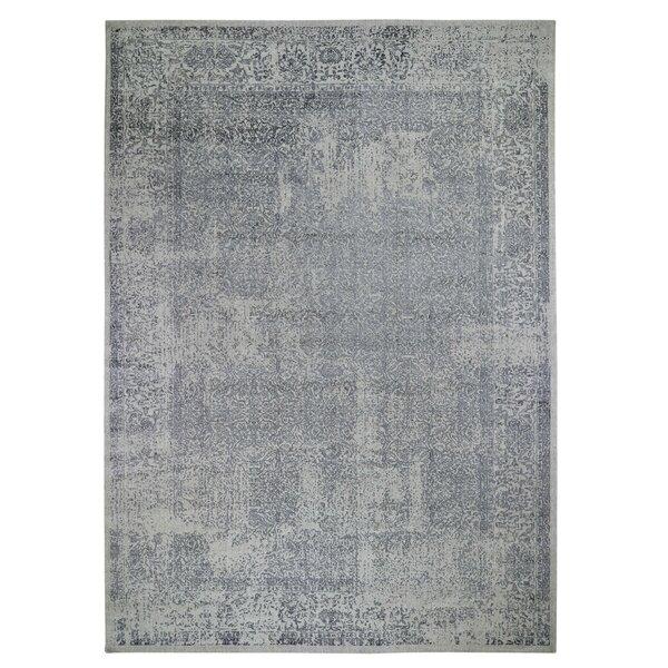 Emison Oriental Handmade Gray Area Rug