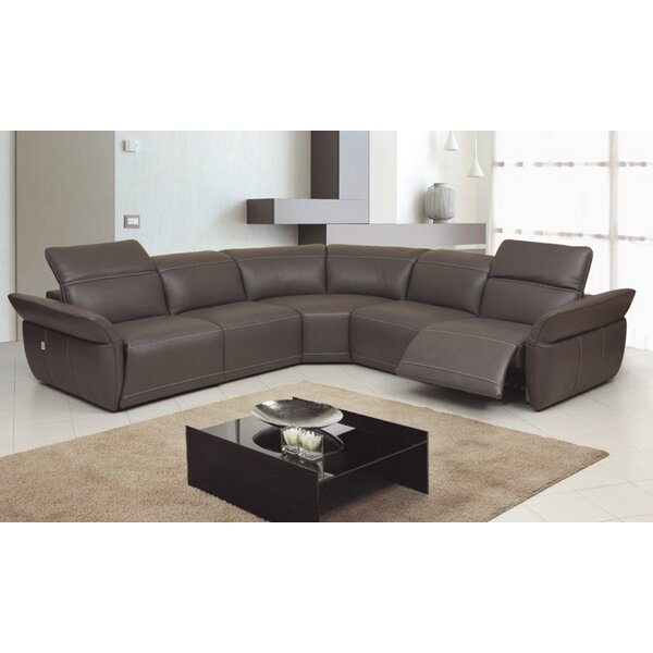 Howarth Motion Genuine Leather Reclining Sectional by Red Barrel Studio