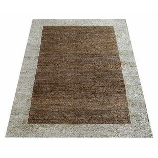 feature Purchase Amira Contemporary Hand-Knotted Brown/Gray Indoor/Outdoor Area Rug By Latitude Run