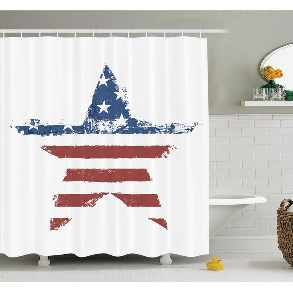 Stars Stripes Shower Curtain Set by East Urban Home