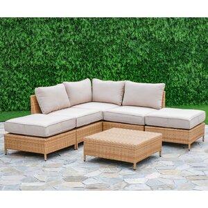 Tamworth 6 Piece Arrow Deep Seating Group with Cushion