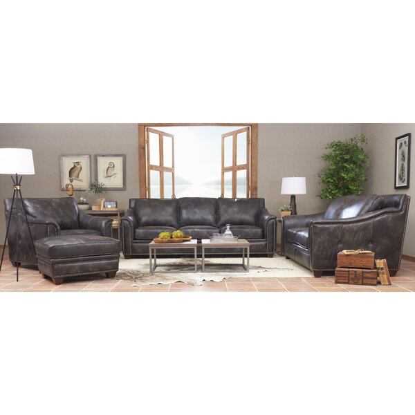 Sasha Leather Configurable Living Room Set by Foundry Select