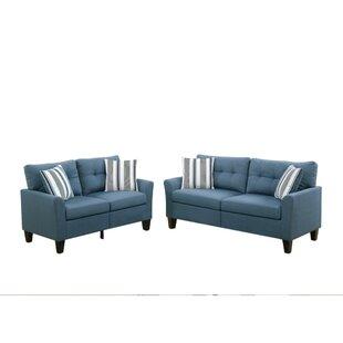 Kozerski Glossy 2 Piece Living Room Set by Red Barrel Studio®