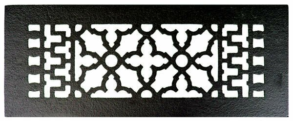 4 x 12 Iron Floor Register Trim in Black by Acorn