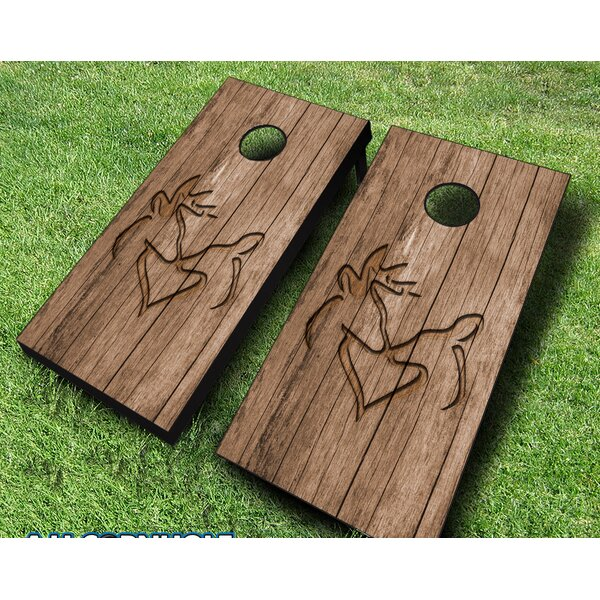 10 Piece Cornhole Set with Bags by AJJ Cornhole