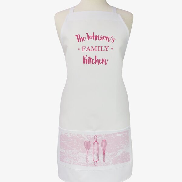 Personalized Modern Day Family Name Kitchen Adult Apron by Monogramonline Inc.