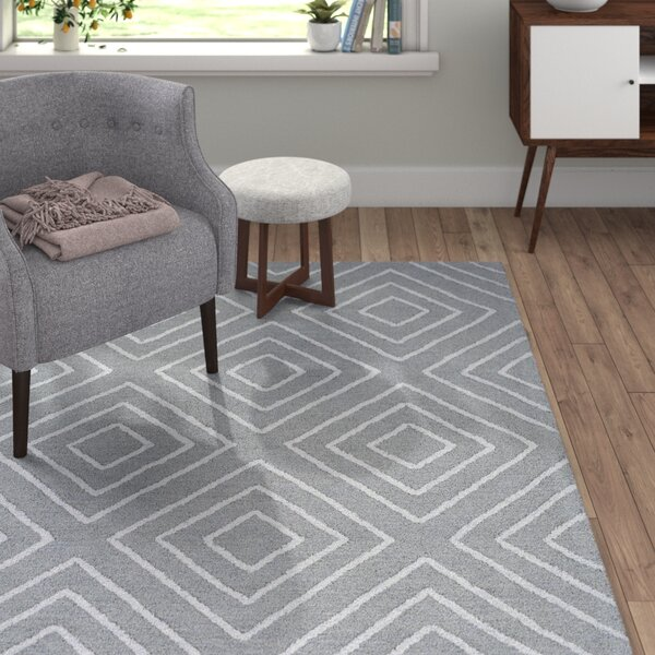Berkeley Hand-Hooked Teal/Pale Blue Area Rug by Langley Street