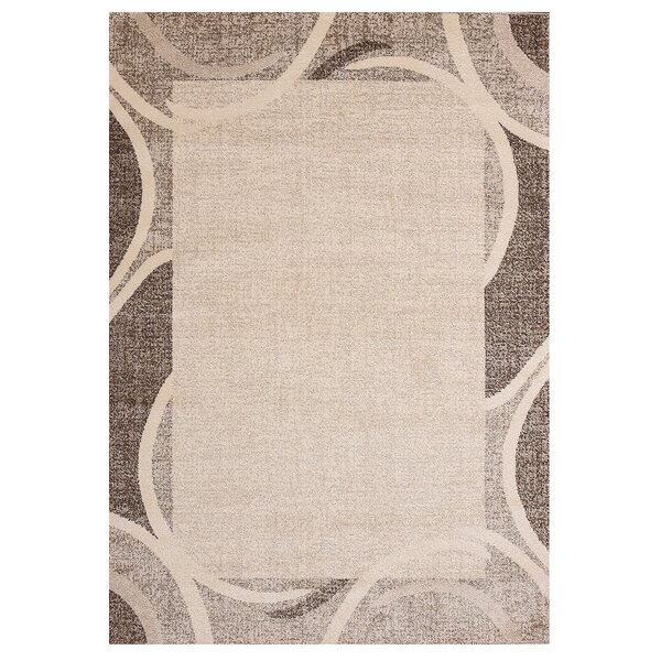 Fennel Cheetham Border Design Beige/Brown Rug