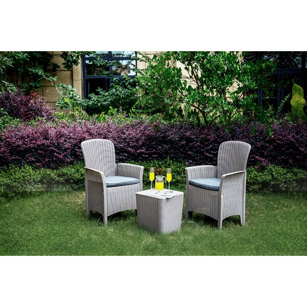 Chocheles 3 Piece Rattan Seating Group by Latitude Run