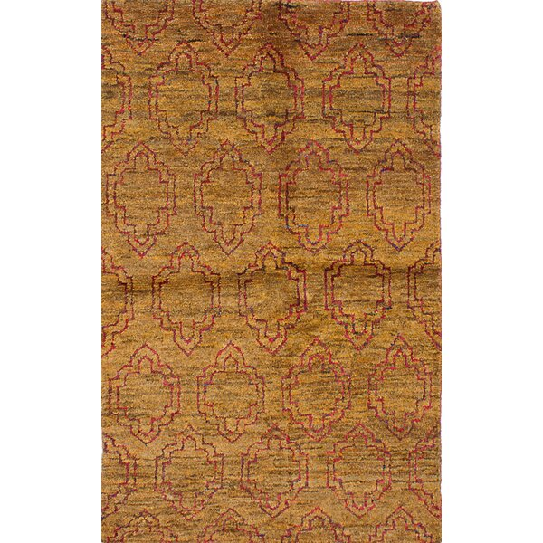 One-of-a-Kind Fabian Hand-Knotted Light Brown Area Rug by World Menagerie
