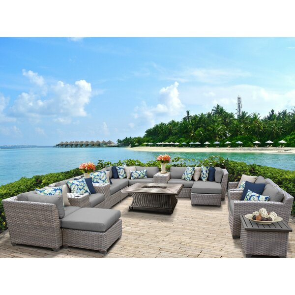 Romford 17 Piece Sectional Seating Group with Cushions by Sol 72 Outdoor