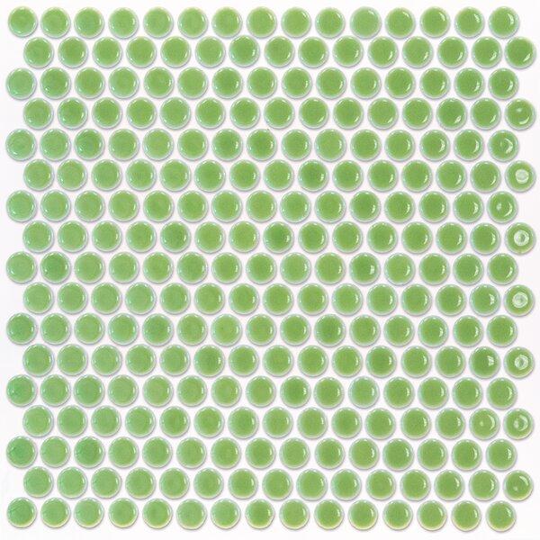 Bliss 0.75 x 0.75 Ceramic Mosaic Tile in Wheat Grass by Splashback Tile