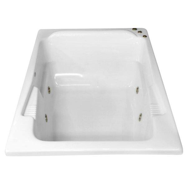 Hygienic Aqua Massage 71 x 48 Whirlpool Bathtub by Carver Tubs