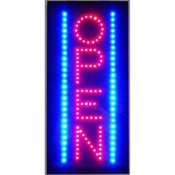 Open Vertical LED Sign by Neonetics