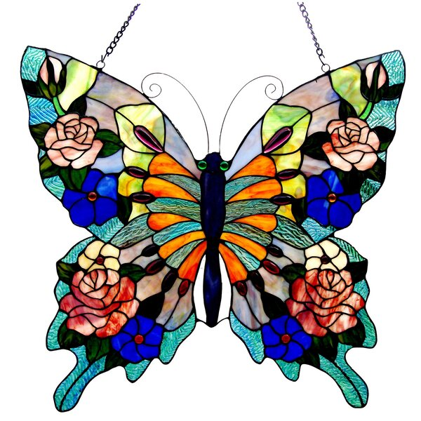 Beley Butterfly Window Panel by Astoria Grand