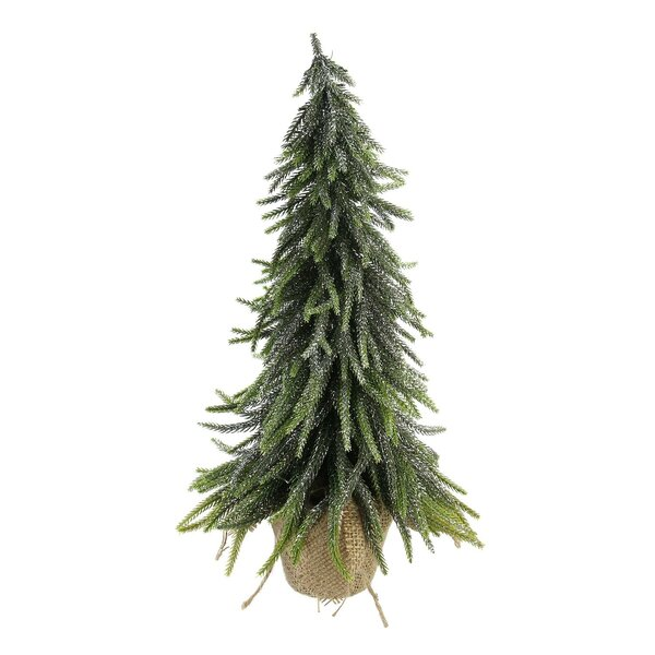 19 Silver Pine Artificial Christmas Tree in Burlap Covered Vase by The Holiday Aisle