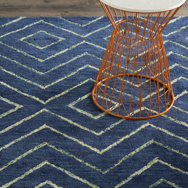 Spartacus Hand-Woven Blue Area Rug by Corrigan Stu