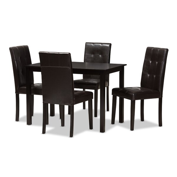 Rosenberry Modern and Contemporary 5 Piece Dining Set by Latitude Run