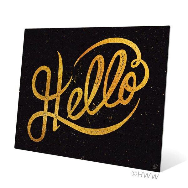 Hello Textual Art Plaque by Click Wall Art