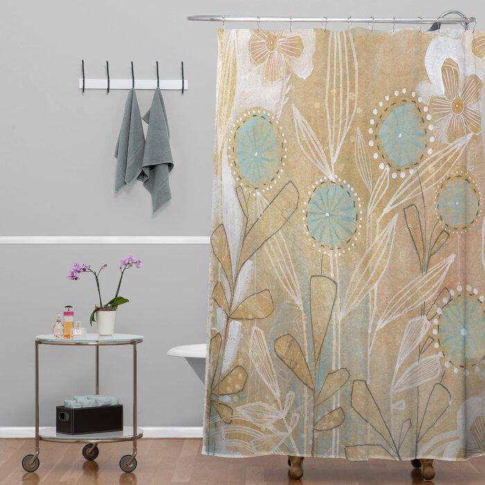 Brayden Studio Donmoyer Dantini Floral Extra Long Shower Curtain ...