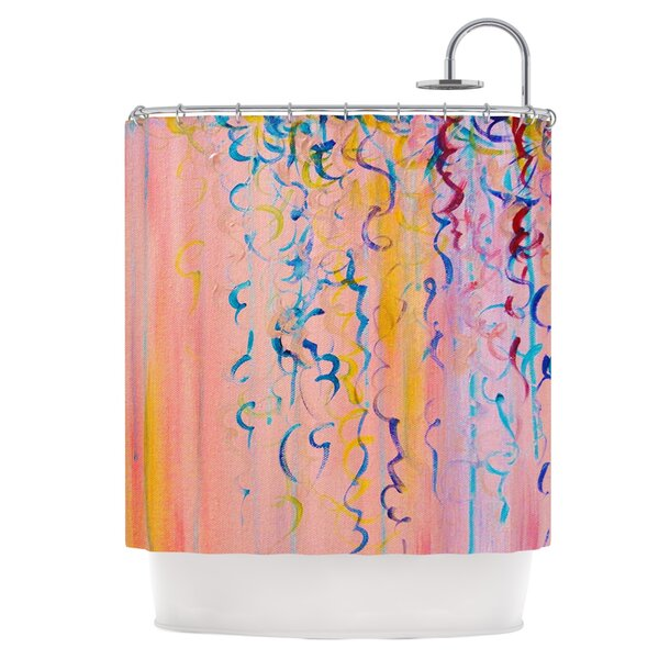 Cotton Candy Whispers Shower Curtain by East Urban Home