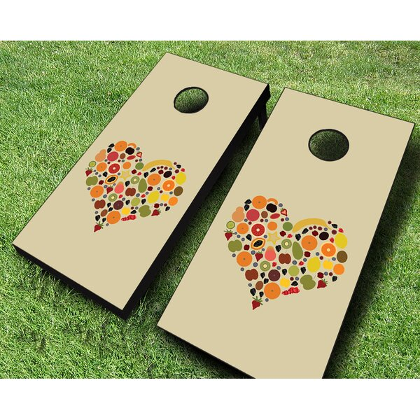 Health Nut Cornhole Set by AJJ Cornhole