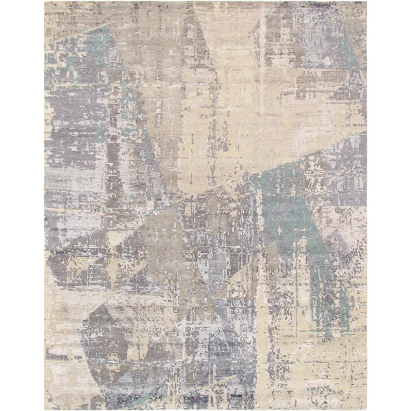 Modern Hand-Knotted Gray/Beige Area Rug by Pasargad