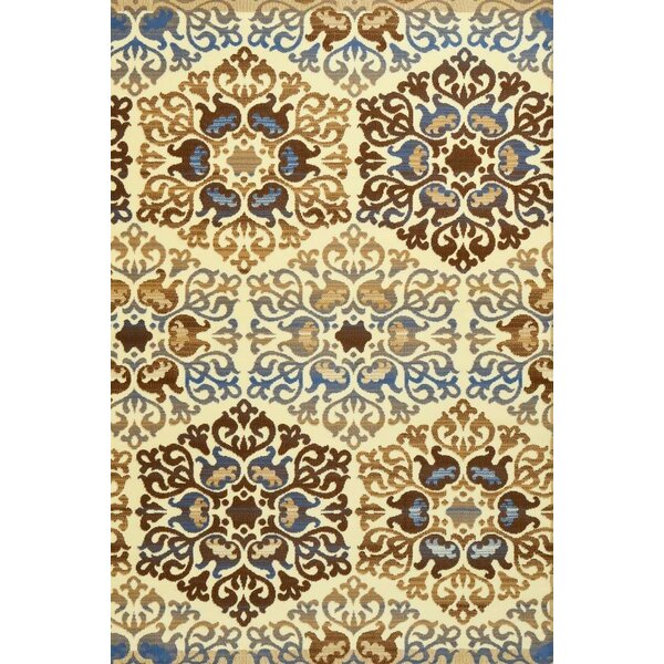 Murphysboro Blue/Ivory Indoor/Outdoor Area Rug by Alcott Hill