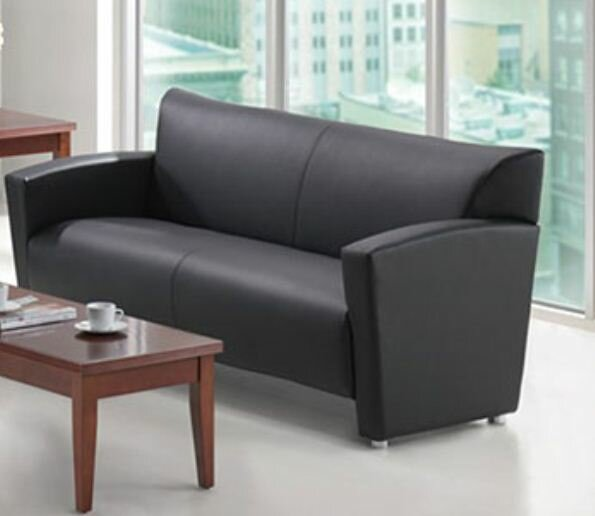 High-quality Werchter Leather Sofa by Latitude Run by Latitude Run