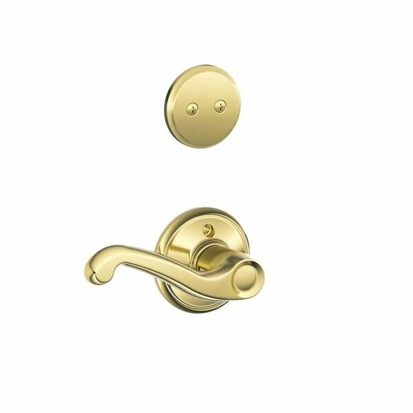 Interior Non-Turning Flair Lever and Interior Inactive Deadbolt Thumbturn by Schlage