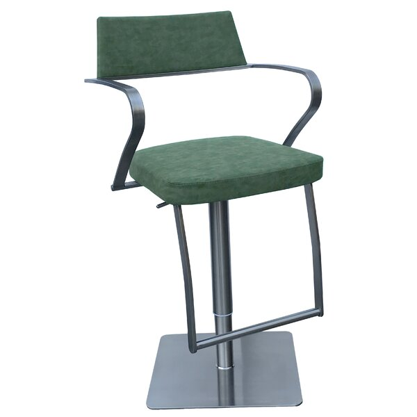 Willette Adjustable Height Swivel Bar Stool by Orren Ellis
