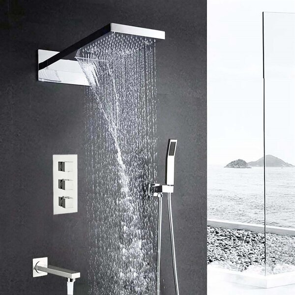 Florence Pressured-Balanced Complete Shower System with Rough-in Valve by FontanaShowers FontanaShowers