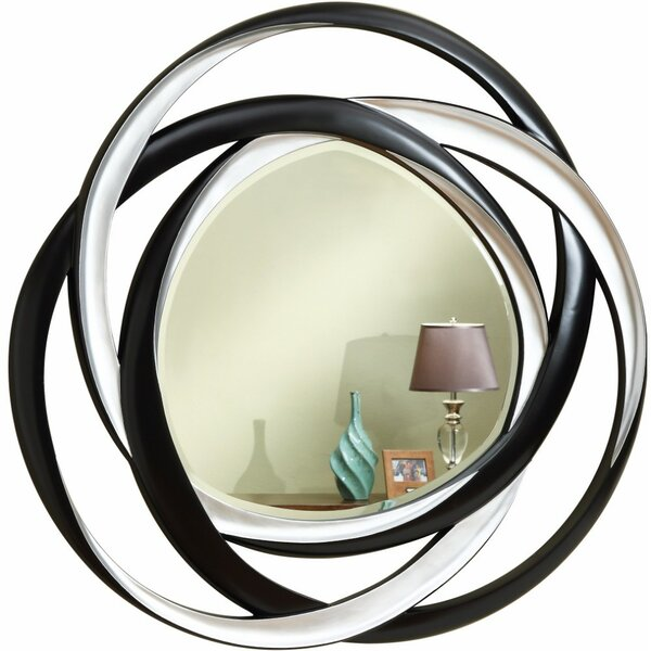 Lettunich Two-Tone Round Accent Mirror by Orren Ellis