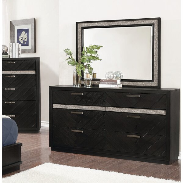 Aranmore 6 Drawer Double Dresser with Mirror by Orren Ellis